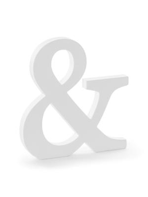 """Koka simbols """"&"""", balts, 19.5 x 20.5 cm"""