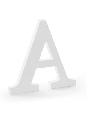 """Koka burts """"A"""", balts, 21.5 x 20 cm"""