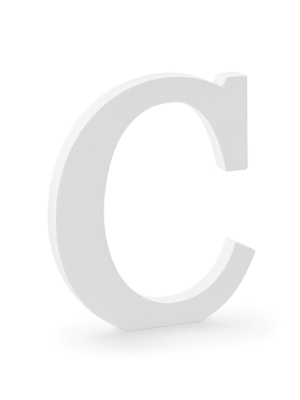 "Koka burts ""C"", balts, 17 x 20 cm"