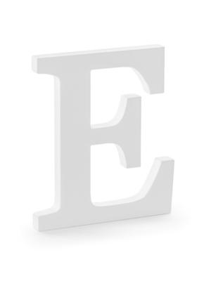 """Koka burts """"E"""", balts, 17 x 20 cm"""