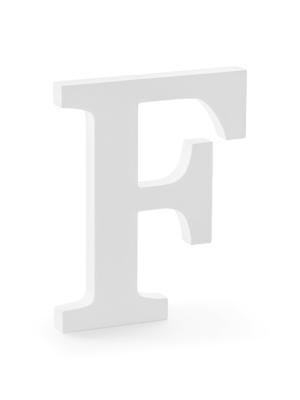 "Koka burts ""F"", balts, 16 x 20 cm"
