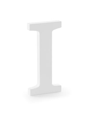 "Koka burts ""I"", balts, 9.5 x 20 cm"
