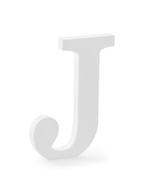 "Koka burts ""J"", balts, 14.5 x 20 cm"