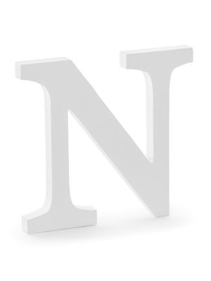 "Koka burts ""N"", balts, 21.5 x 20 cm"
