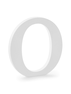 """Koka burts """"O"""", balts, 19.5 x 20.5 cm"""