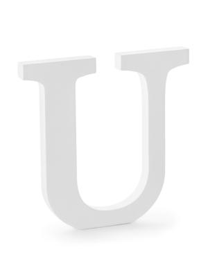 "Koka burts ""U"", balts, 20.5 x 20 cm"