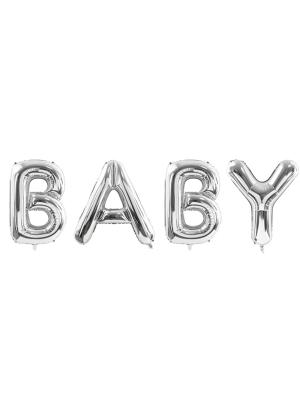 "Folija balons ""Baby"", sudraba, 262 x 86 cm"