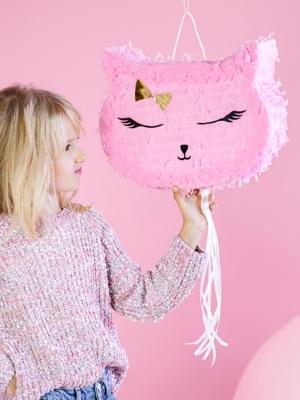 Pinata - Kaķītis, rozā, 35 x 27 x 9 cm