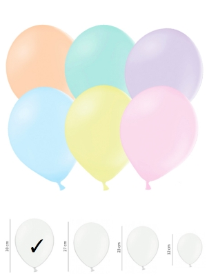 100 gab, Pasteļtoņu balonu, mix, 30 cm