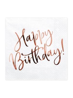 20 gab, Salvetes Happy Birthday, 33 x 33 cm