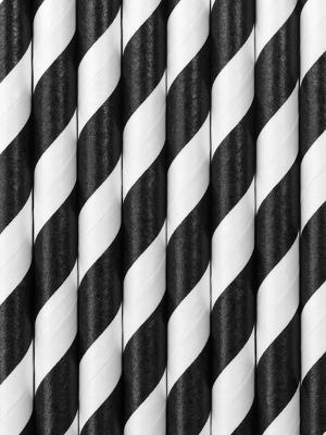 250 gab, Salmiņi, melni ar baltu, 19.5 cm