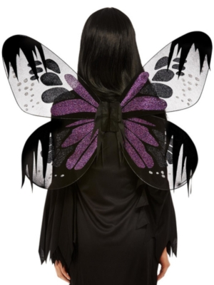 Tumšās kodes spārni, violeti ar spīdumu,  65 cm
