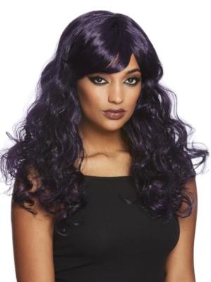 Gotiska parūka, melna ar violetu