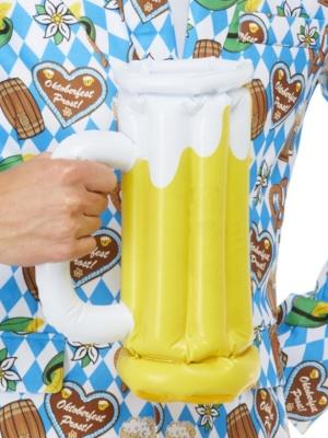 Piepūšams alus kauss, dzeltens, 28 cm