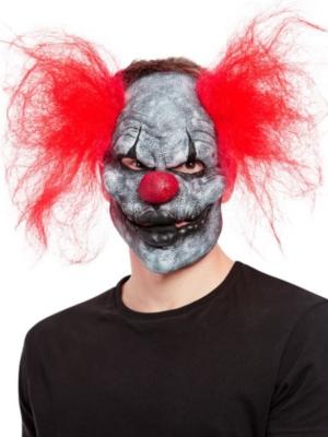 Tumšā klauna maska ar matiem