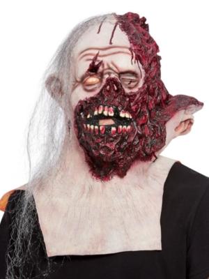 Apdegušas sejas un kakla maska ar matiem