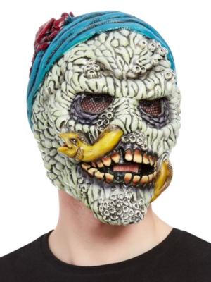 Skeleta maska ar gliemi