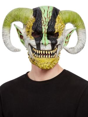 Dēmona maska ar ragiem