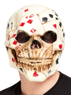 Skeleta maska ar kārtīm