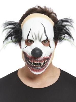 Ļaunā klauna maska ar matiem