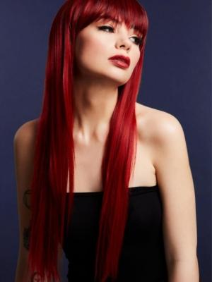 Parūka  Jessica, rubīna sarkana, 66 cm