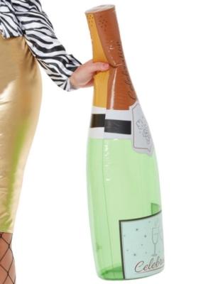 Piepūšama šampanieša pudele, zaļa 66 cm
