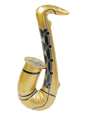 Piepūšams saksofons, zelta krāsā, 55 cm