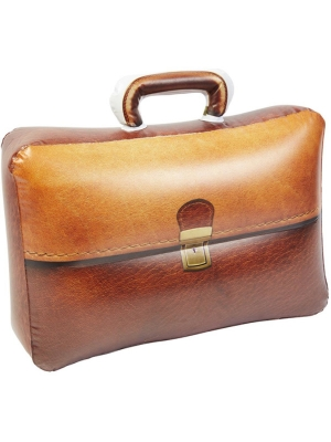 Piepūšams portfelis brūnā krāsā 32 cm