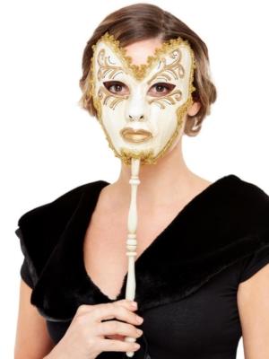 Venēcijas stila maska uz kociņa