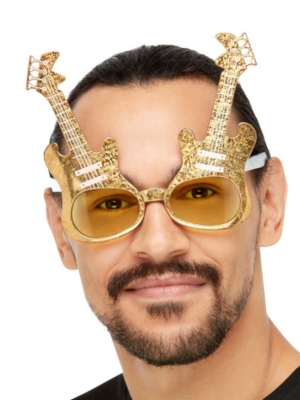 Brilles elekriskās ģitāras, zelta krāsā