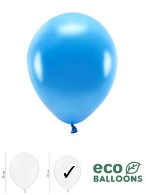 100 gab, Perlamutra eko baloni, zili, 26 cm