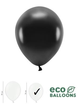 100 gab, Perlamutra eko baloni, melni, 26 cm