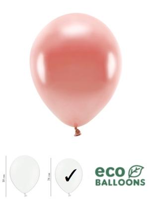 100 gab, Perlamutra eko baloni, rozā zelta, 26 cm