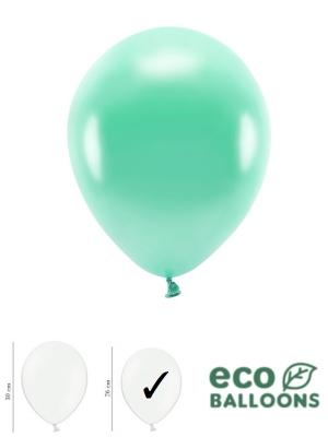100 gab, Perlamutra eko baloni, tumši piparmētras, 26 cm