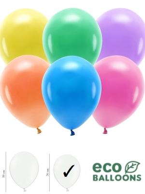 100 gab, Pasteļu eko baloni, mix, 26 cm