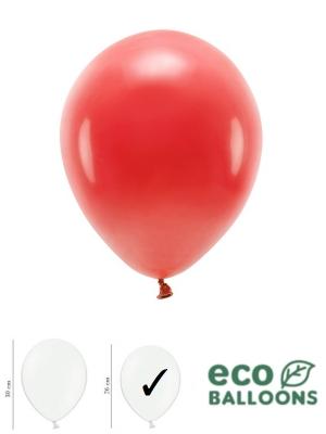 100 gab, Pasteļu eko baloni, sarkani, 26 cm
