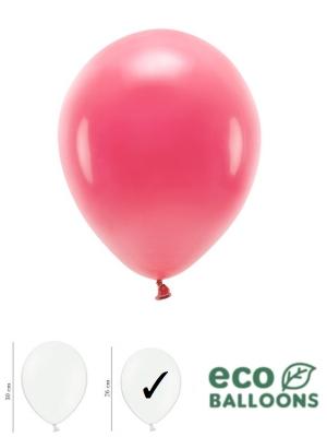 100 gab, Pasteļu eko baloni, gaiši sarkani, 26 cm