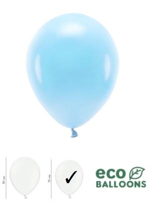 100 gab, Pasteļu eko baloni, debesu zili, 26 cm