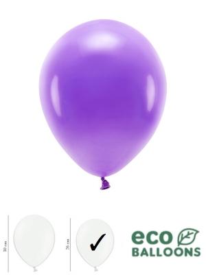 100 gab, Pasteļu eko baloni, violeti, 26 cm
