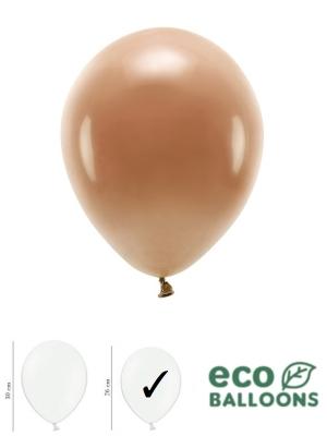 100 gab, Pasteļu eko baloni, šokolādes brūni, 26 cm