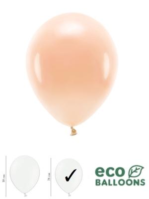 100 gab, Pasteļu eko baloni, persiku, 26 cm