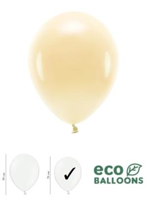 100 gab, Pasteļu eko baloni, gaiši persiku, 26 cm