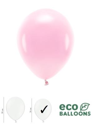 100 gab, Pasteļu eko baloni, gaiši rozā, 26 cm