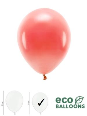 100 gab, Pasteļu eko baloni, koraļu, 26 cm