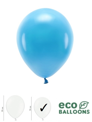100 gab, Pasteļu eko baloni, tirkīza, 26 cm