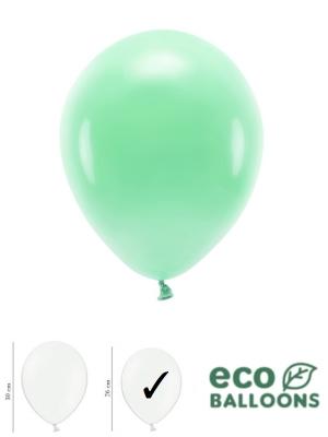 100 gab, Pasteļu eko baloni, piparmētras, 26 cm
