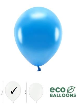 100 gab, Perlamutra eko baloni, zili, 30 cm