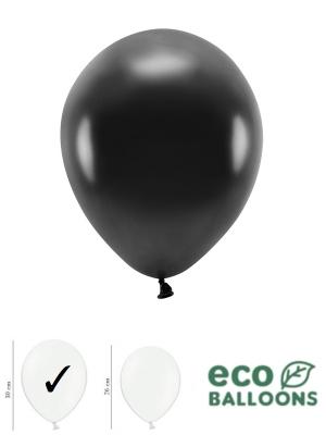 100 gab, Perlamutra eko baloni, melni, 30 cm