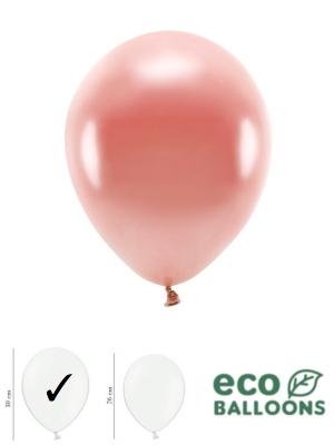 100 gab, Perlamutra eko baloni, rozā zelts, 30 cm