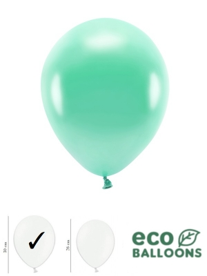 100 gab, Perlamutra eko baloni, tumši piparmētras, 30 cm